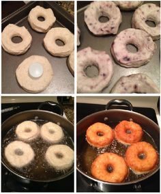 Homemade Blueberry Biscuit Doughnuts / Donuts