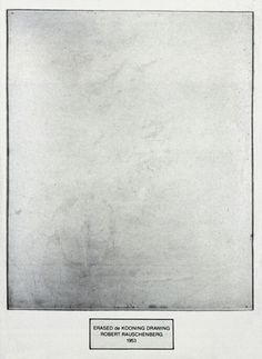 designbby: Robert Rauschenberg - Erased de Kooning Drawing,...