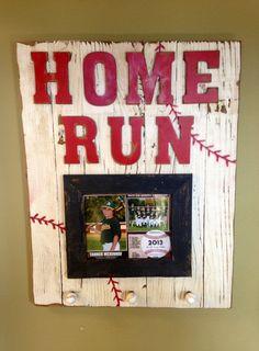 custom barnwood frames instead of baseball make it softball