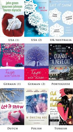 Which Let it Snow cover do you prefer? Let It Snow, Let It Be, Good Books, My Books, Snow Holidays, John Green, How To Take Photos, Penguins, Australia
