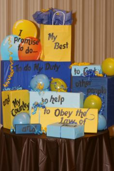 blue and gold banquet ideas | Cub Master...NOW WHAT!: BLUE and GOLD