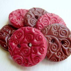 handmade textured buttons