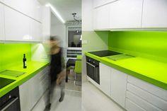 Lime Green Kitchen for Modern Studio Apartment Design Image 410