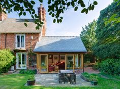 View Our Extensive Range Of Arboreta & Natural Oak Framed Extensions And Conservatories At David Fennings Dorset Garden Room Extensions, House Extensions, Cosy Garden, Cottage Extension, Porch Extension, Side Extension, Oak Framed Extensions, Small Country Homes, Oak Framed Buildings