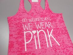 On Wednesday We Wear Pink Tank Top. Mean by StrongGirlClothing
