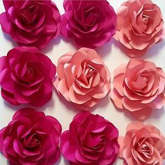 Table Topper This is a set of Table Decorations Paper flower Toppers and leaves This template assists Paper Flower Centerpieces, Paper Flower Decor, Large Paper Flowers, Paper Flowers Wedding, Paper Roses, Wedding Paper, Small Flowers, Flower Decorations, Cardboard Box Crafts
