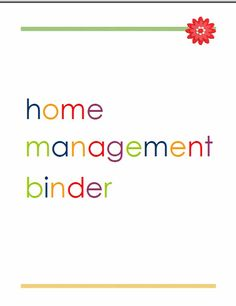 Lauras Crafty Life: Setting Up a Home Management Binder (free printables for cover and spine of binder)