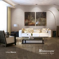 Tu #sala será un lugar de descanso y lujo con un piso Interceramic.