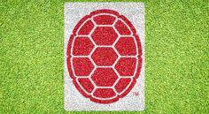 """$149.95  PRODUCT DETAILS Maryland Terrapin Shell Stencil Kit (MRLDOOS-001)  4 Panel Stencil  Size: 90"""" X 67""""  Size in Ft: 7' - 6"""" X 5' - 7""""  Paint Included: 3 Red, 3 White  Reusable Storage Container"""