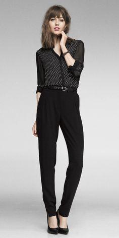 Express | portofino shirt and high rise pant