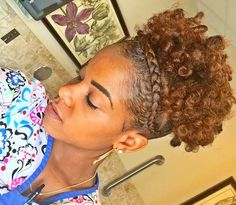 curly updo for short natural hair #naturalhairstyles