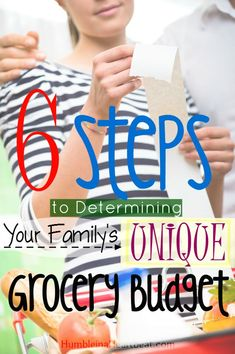 """It's useless to compare your grocery budget with another family's. You need to go through these six crucial steps to find your own family's unique grocery budget and stop feeling guilty if you are spending """"too much"""" on food. best budgeting tips Frugal Living Tips, Frugal Tips, Budgeting Finances, Budgeting Tips, Ways To Save Money, Money Tips, Planning Budget, Food Budget, Meal Planning"""