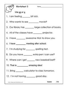 Worksheets Science Worksheets For Grade 2 test your word power vi free grade 2 english worksheet an or a