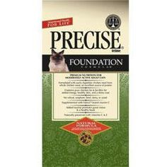 $27.49-$61.83 Precise Feline Foundation Chicken Natural Formula for Adult Cats - Once your kitten is about a year old, you should begin to shift over to Precise Feline Foundation Formula for Adult Cats. Because our formulas are compatible, you won't have any trouble getting your feline to eat her new food eagerly.  Precise Feline Foundation Formula for Adult Cats has the same high quality ingredi ...