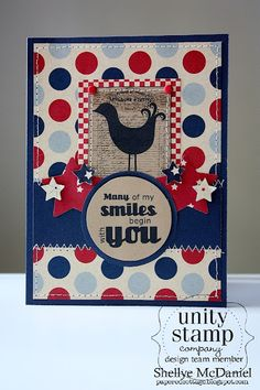 {many of my smiles} stamp of the week from unity stamp company - card created by Unity Design Team Member - shellye mcdaniel