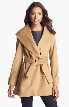 Free shipping and returns on Trina Turk Belted Wrap Coat (Regular & Petite) at Nordstrom.com. An oversized shawl collar adds flattering elegance to a classic wrap coat fashioned in a soft blend of wool and cashmere.