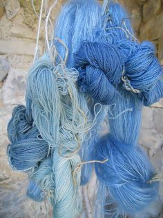 yarn dyed with woad | Flickr - Photo Sharing!
