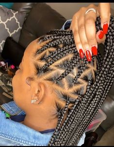 Box Braids Hairstyles, Braided Hairstyles For Black Women, Baddie Hairstyles, Hairstyle Ideas, Hair Ideas, Little Girl Hairstyles, Hairstyles For School, Black Hairstyles, Cute Hairstyles