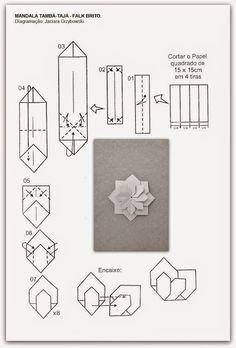 folding diagram for origami unit mandala . Gato Origami, Instruções Origami, Origami Cards, Origami Yoda, Origami Paper Folding, Origami Star Box, Origami And Kirigami, Origami Dragon, Origami Fish