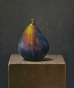 As the title says, here's another fig painting; I love painting figs. I'm still thinking a lot about the color of the background drap. Fruit Painting, Love Painting, Flor Magnolia, Vegetable Painting, Fig Fruit, Classical Realism, Arm Art, Types Of Fruit, Dibujo