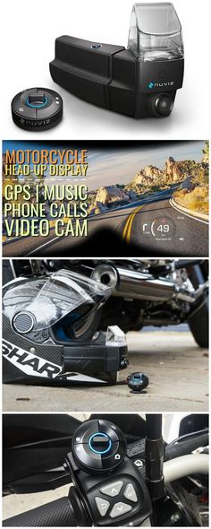 NUVIZ is the first fully integrated motorcycle Head-Up Display (HUD), ideal for motorcycle riders. It is an integrated device that mounts to any full-face helmet and works intuitively with an easy-to-use wireless controller. Affiliate.