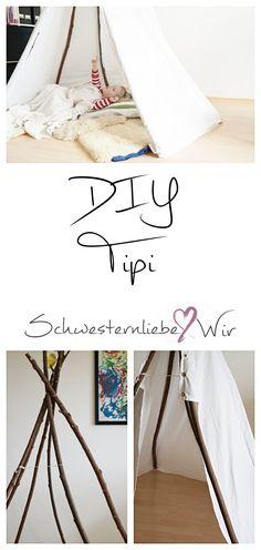 So kannst du dir günstig ein eigenes Tipi bauen. Deine Kinder werden es lieben! #tipi #diy #kinderzimmer