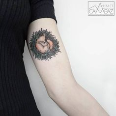 Sleeping Fox Tattoo by ahmet cambaz