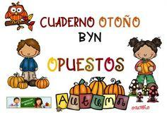 Cuaderno De Opuestos, motivos de otoño. Original y listo para imprimir.