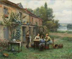 Coffee in the Garden - Daniel Ridgway Knight
