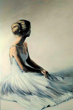 Ballerina painting by Agata Mikulska-Sienkiewicz,acryl on canvas, 120x80 cm