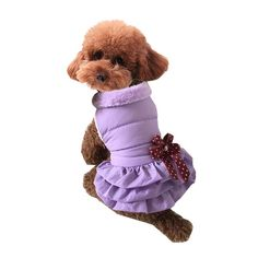 Silvercell Pets Dogs Puppy Winter Warm Fleece Tutu Dress Party Coat Clothes *** You can get more details here : Christmas Presents for Cats