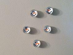Cute DIY Snowmen magnets