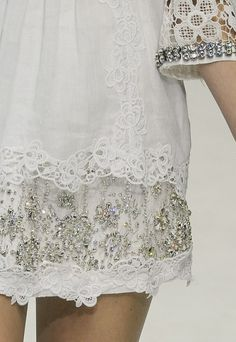 5/3/15 Beautiful embroidered embellishments. Very angelical feel on this lace.