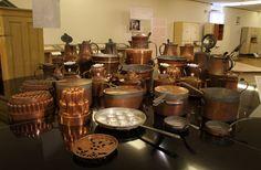 Měděné nádobí z císařsko-královské kuchyně ve Vídni