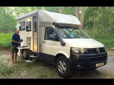 While visiting the Allaire State Park Campground I stumbled upon this cool part amphibious camper van RV motor home conversion built on the Volkswagen chassi. Small Camper Trailers, Small Campers, Rv Campers, Transporter T3, Single Cab Trucks, 4x4 Van, Foto Fashion, Van Camping, Campervan