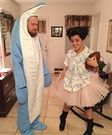 Ace Ventura and Snowflake the Dolphin