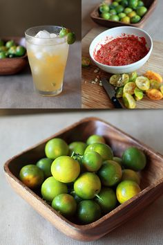 Calamansi - When I found these at a local supermarket, I rushed home immediately and made myself a glass of calamansi juice with ice, just like the way it's served back home in Malaysia. The calamansi peel perfumed my fingers with its exotic smell; I brought my fingers to my nose, sniffing the fruity and citrusy fragrance and aroma. #malaysian #fruit