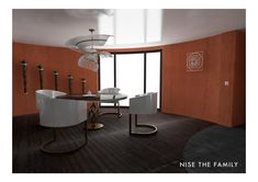 New Modern Kollektion - Nise The Family White Mirror, Red Walls, Charcoal, Dining Room, Vibrant, Ceiling, Rooms, Flooring, 3d
