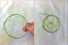 how to make dream catchers (from Free People)