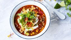 Tacosuppe Cottage Cheese, Tex Mex, Gluten Free Recipes, Thai Red Curry, Free Food, Chili, Nom Nom, Bacon, Food Porn