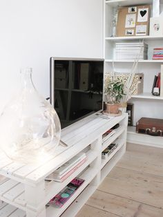 la tazzina blu: Pallet TV stand: the big reveal