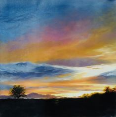 Sunset Volcano (Repaint) Volcano, Artsy, Sunset, Sunsets, Volcanoes, The Sunset