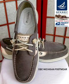 472ffa20989 SPERRY IVYFISH TOP-SIDER BOAT SHOES WOMENS US 8 GRAPHITE BROWN MINT CONDL