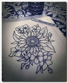 Sunflower drawing sunflower tattoo shoulder, flower tattoos on shoulder, thigh tattoo flowers, henna Finger Tattoos, Body Art Tattoos, Cool Tattoos, Tatoos, Cute Thigh Tattoos, Thigh Piece Tattoos, Upper Thigh Tattoos, Small Tattoos, Sunflower Tattoo Shoulder