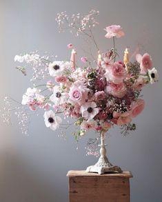 Ideas Pink Bridal Shower Decorations Babies Breath For 2019 Blush Wedding Flowers, Bridal Flowers, Purple Wedding, Deco Floral, Arte Floral, Floral Design, Flower Studio, Flower Art, Types Of Flowers
