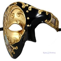 Venetian Masquerade Mask: Phantom of the Opera GOLD : Kool & Unusual:... ❤ liked on Polyvore featuring masks and accessories