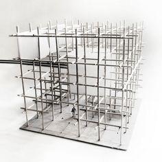 A brief journey -pedal powered coaster artur zakrzewski. Off eberle - rtf rethinking the future Grid Architecture, Maquette Architecture, Concept Models Architecture, Temporary Architecture, School Architecture, Architecture Portfolio, Design Despace, Structural Model, Arch Model