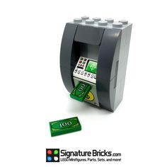 LEGO ATM Machine with Money for Minifigures in City Cash Sets Brick Bank #LEGO