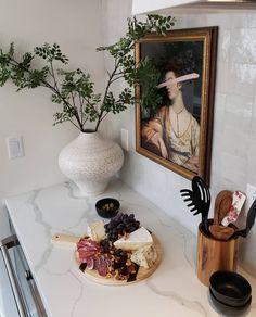 Galley Kitchen Design, Kitchen Tiles, Kitchen Reno, Kitchen Gadgets, Kitchen Cabinets, Farmhouse Kitchen Decor, Home Decor Kitchen, Kitchen Interior, Kitchen Colour Schemes