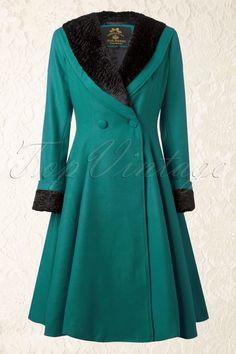 Bunny Vivien Coat in Teal 152 20 13451 20140625 0009
